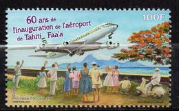 Polynésie Française 2021 - 60 Ans Aéroport De Tahiti, Avions - 1 Val Neuf // Mnh - Neufs