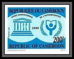 90042a Cameroun Cameroon N°834 Unesco Alphabetisation 1980 Alphabetisation 1980 Non Dentelé ** MNH Imperf - Cameroon (1960-...)