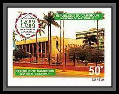 90086a Cameroun Cameroon N°826 Palais De L'assemblee Union Interparlementaire Non Dentelé ** MNH Imperf - Cameroon (1960-...)