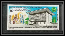 90145 Mauritanie Non Dentelé ** MNH Imperf N°115 Uampt Télécommunication - Mauritania (1960-...)