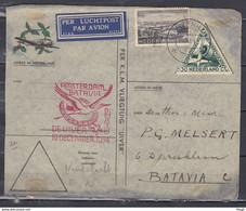 Brief Van Gravenhage Naar Batavia Amsterdam Batavia De Uiver - Briefe U. Dokumente