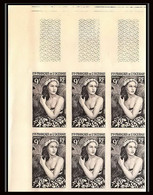 90937b Océanie N° 203 Jeune Fille De Bora Bora Bloc De 6 Essai Proof Non Dentelé Imperf ** MNH Tahiti Polynesie - Ungebraucht