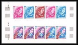 91624 Polynesie Polynesia N° 71 Sainte Therese Jesus Tableau Painting Essai Proof Non Dentelé Imperf ** MNH Cote 1150 - Geschnitten, Drukprobe Und Abarten