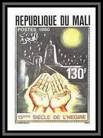 92247a Mali N°382 Avenement Du 15e Siecle De L'Hegire Mahomet Mecque Bloc 4 Non Dentelé Imperf ** MNH - Mali (1959-...)
