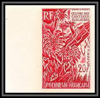 92250c Polynesie N°35 Oeuvre Painting Cantines Scolaires Child Draw Essai Proof Non Dentelé Imperf ** MNH - Geschnitten, Drukprobe Und Abarten