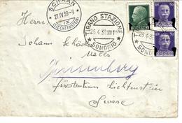 1939 Letter From Tirano To Liechtenstein - Marcofilía