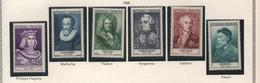 Série De 6 Timbres Neufs De 1955 - Célébrités Du XIIe Au XXe Siècles - YT 1027 à 1032 - Ungebraucht