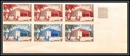 93331 Polynesie N°14 Hotel Des Postes De Papete Bloc 6 Essai Proof Non Dentelé Imperf ** MNH 1960 - Ungebraucht