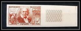 France N°1017 Louis De Bernigaud Soie Artificielle 1955 Essai Trial Color Proof Non Dentelé Imperf ** MNH - Ungezähnt