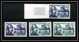 France N°1052 Colonel Driant Guerre 1914/1918 War Essai (trial Color Proof) + Non Dentelé Imperf ** MNH - Ungezähnt