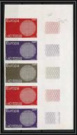 France N°1637 Europa 1970 Bande De 5 Essai (trial Color Proof) Non Dentelé Imperf ** MNH Strip 5 Cote 312.5 - Ungezähnt