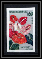 France N°1738 L'anthurium De La Martinique Fleurs Flowers Non Dentelé ** MNH (Imperf) - Altri