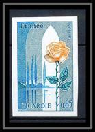 France N°1847 Région Picardie Fleurs (flowers) Rose Non Dentelé ** MNH (Imperf) - Rose