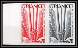 France N°1854 Service De Déminage Guerre 1939/45 War Paire Essai Proof Non Dentelé Imperf ** MNH - Probedrucke