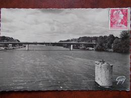 78 - MEULAN - Le Grand Pont De Meulan - Les Mureaux, Sur La Seine. (CPSM) - Meulan