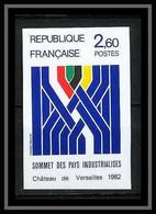 France N°2214 Sommet Des Pays Industrialisés Château De Versailles (castle) Non Dentelé ** MNH (Imperf) - Ungezähnt