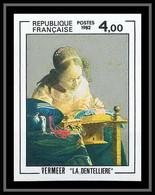 France N°2231 La Dentellière De Vermeer Tableau (Painting) Non Dentelé ** MNH (Imperf) - Ungezähnt