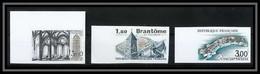 France N°2253/2255 Brantome Concarneau Abbaye De Noirlac Non Dentelé ** MNH (Imperf) - Ungezähnt