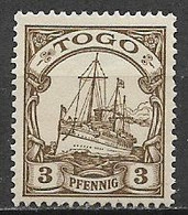 GERMANIA REICH COLONIA  TOGO  1900  ORDINARIA YVERT. 7 NUOVO SENZA GOMMA VF - Kolonie: Togo