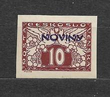 Czechoslovakia 1926 MNH ** Mi 219 Sc P13 Newspaper Stamps, Zeitungsmarken NOVINY. Tschechoslowakei - Nuovi
