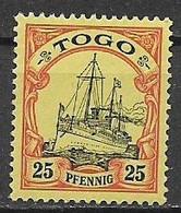 GERMANIA REICH COLONIA  TOGO  1900  ORDINARIA YVERT.11 NUOVO SENZA GOMMA VF - Kolonie: Togo