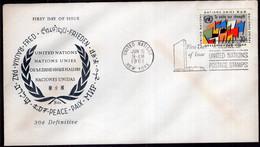 ONU - 1961 - FDC - 30c. Definitive - Paz  - A1RR2 - FDC
