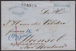 BRAMSCHE R2b Franko Umschlag Nach WOENSEL EINDHOVEN R1r Taxiert Braband   (15931 - Sin Clasificación