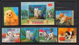 Yemen Royaume (kingdom) - 4230/ N°1040/1045 B + Bloc 208 Chiens Dogs 3d Stamps Neuf ** MNH - Yemen