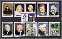 Yemen Royaume (kingdom) - 4155a N°840/850 B De Gaulle Kennedy Gandhi Nehru Personalities Non Dentelé Imperf ** - Mahatma Gandhi