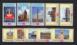 Yemen Royaume (kingdom) - 4154b N°1026/1035 A PHILYMPIA 70 LONDON 1970 Picaddily Buckingham Westminster Londres ** Mnh - Yemen