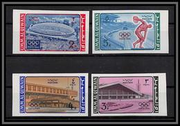 0220a/ Umm Al Qiwain N°26/29 B Tokyo 1964 Non Dentelé Imperf ** MNH Jeux Olympiques Olympic Games - Umm Al-Qiwain