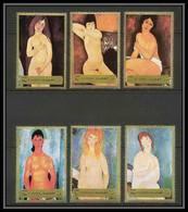 106d - Fujeira - MNH ** Mi N° 1222 / 1227 A Tableau (tableaux Nudes Paintings) Modigliani - Fujeira