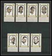 299g - Fujeira MNH ** Mi N° A 374 / 380 A Overprint De Gaulle Kennedy Churchill Pape Pope Adenauer Hammarskjöld - Fujeira