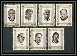 300a - Fujeira MNH ** Mi N° 374 / 380 A De Gaulle Kennedy Churchill Pape Pope Adenauer Hammarskjöld - Fujeira