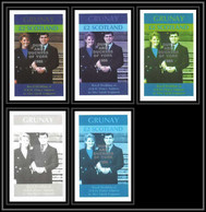 642 Grunay 1986 Wedding Of Prince Andrew And Sarah Ferguson Essai (proof) Overprint Silver - Scotland