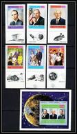 755d Yemen Kingdom MNH ** N° 809 A /F + Bloc 167 B Apollo 11 Astronauts Armstrong Non Dentelé Imperf Espace (space) - Asia