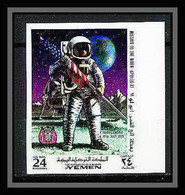 760a Yemen Kingdom MNH ** Mi N° 798 B Non Dentelé (Imperf) First Manned Moon Landing Espace (space) Apollo 11 - Asia