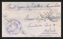 3870 Point D'appui De Tabelbala Algérie 1913 Lettre Cover France Guerre Maroc War - Bolli Militari A Partire Dal 1940 (fuori Dal Periodo Di Guerra)