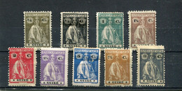 Guinée Portugaise 1914-21 Yt 143-151 * - Guinea Portuguesa