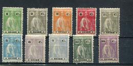 Guinée Portugaise 1922-26 Yt 181-188 193 195 * - Guinea Portuguesa