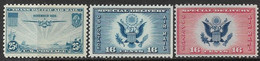 US 1934-6  Sc#C20, CE1-2 Airmails MNH    2016 Scott Value $2.90 - Nuovi