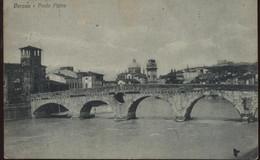 VERONA PONTE PIETRA VIAGGIATA 1916 FORMATO PICCOLO - Verona