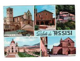 SALUTI DA ASSISI  VIAGGIATA 1963 - Perugia