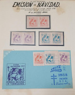 O) 1953 CUBA, TUBERCULOSIS, CHRISTMAS,SANTA CLAUS, PAIR IMPERFORATE, XF - Other