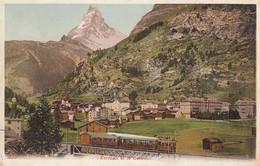 Zermatt - Chemin De Fer Et Cervin - 1911 - Trenes