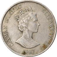 Monnaie, Îles Caïmans, 25 Cents, 1987, TTB, Copper-nickel, KM:90 - Cayman Islands