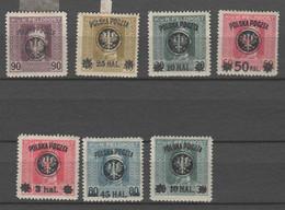 Polen 1918 , 7 Aufdruckwerte Ungebraucht ( 67.-) - Unused Stamps