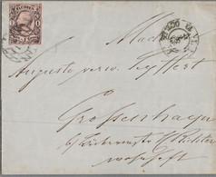 1855 Briefhülle M. 1 Neu-Gr. U. Gitterstempel - Briefe U. Dokumente