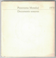 2 DISQUES  PUBLICITAIRE RTL PANORAMA MONDIAL DOCUMENTS SONORES 1970 PRESIDENT NASSER POMPIDOU GENERAL DE GAULLE - Formati Speciali