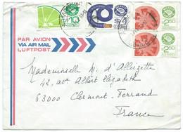 ENVELOPPE MEXIQUE POUR CLERMONT FD FRANCE / 1983 / CITRICOS TOMATE / TECAMACHALCO - Mexique